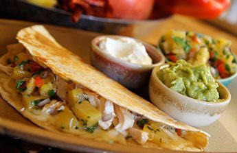 Chicken Quesadillas with Pineapple Salsa