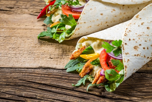 Vegetable Beef Wraps