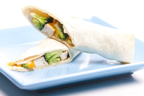 Chicken & Broccoli Salad Wraps