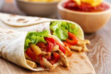 Turkey & Pepper Wraps