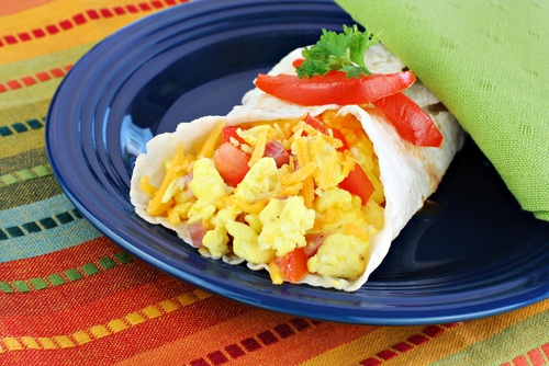 Fiesta Breakfast Wraps
