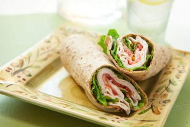 Turkey-Walnut Salad Wraps