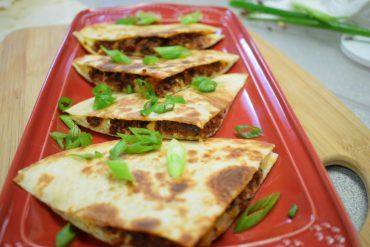 Grilled Cheesy Chorizo Quesadillas