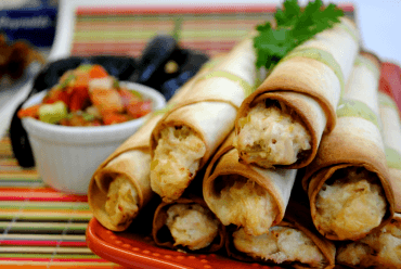 Spicy Chicken Jalapeno Taquitos
