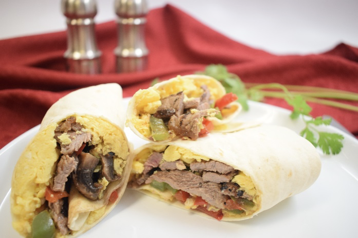 Southwest Egg and Steak Burritos