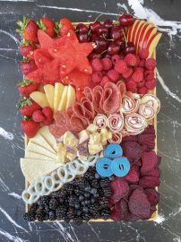 Red, White, and Blue Graze Board with Azteca Tortilla Pinwheels